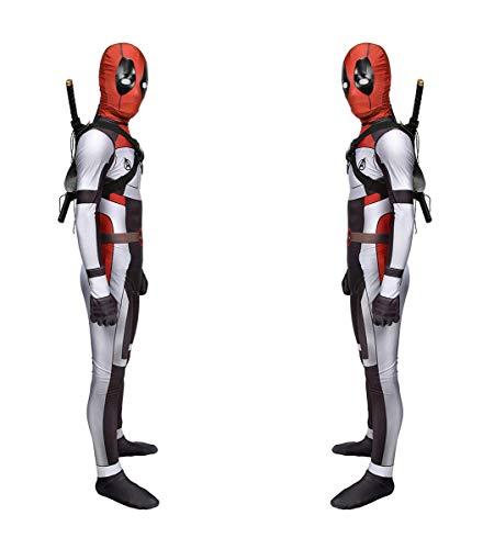 CXYGZLJ Avengers Deadpool Edition Tantum battum Traje, Traje de Halloween Setty Set Juego Juego de rol de Anime, Adulto y nio Cosplay Sumpsuits Leotard Fancy Dress,Men M