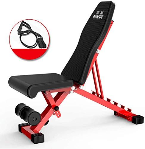 BYCDD Home Gym Regolabile Panca Pesi, Pieghevole banco di Allenamento Esercizio Utility Bench Panca per Allenamento per Upright Declino Incline e Piatto Esercizio,Black