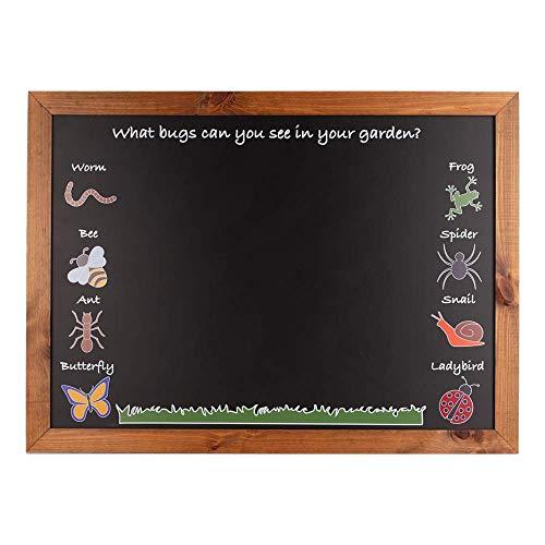 Chalkboards UK Garden Bug - Lavagna per interni ed esterni (A1), colore: nero, 900 x 662 x 20 mm