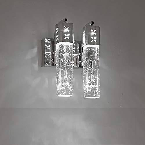 Décoration Personnalité Minimaliste Moderne Créative Lampe De Mur En Cristal Lampe De Mur LED Lampe De Chevet Lampe De Fond Du Mur En Cristal De Qualité Bubble Décoration Lampe ( Couleur : White )