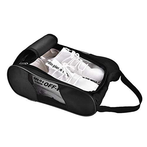 Acogedor Schuhtasche,Nylon Schmutzabweisender Schuhsack Schuhbeutel Tragbare Golfschuhtasche für Reise,Golf-Schuh-Organizer Taschen/Boxen - Atmungsaktives NylonmitReißverschluss,Sportschuhtaschen(1)
