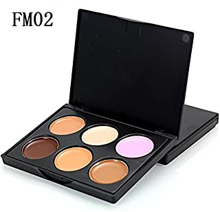 Pure Vie Pro 6 Colors Cream Concealer Camouflage Makeup Palette Contouring Kit for Salon and Daily Use