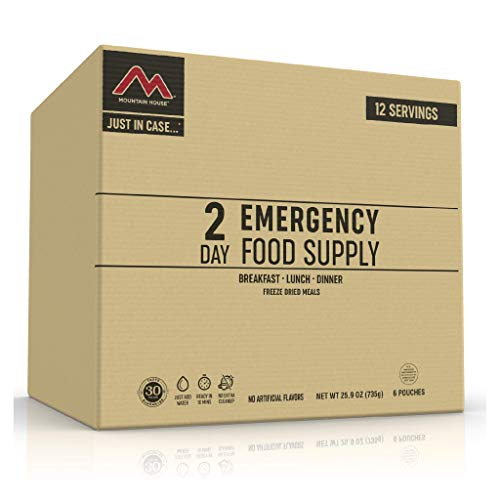 Mountain House 2-Day Emergency Food Supply   Freeze Dried Survival & Emergency Food   12 Servings