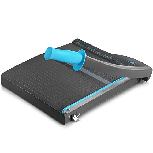 Swingline Guillotine Paper Cutter Heavy Duty, 12 Inch Paper Cutting Board with Guard Rail, Blade Lock, Cuts Up to 10 Sheets, Professional Manual Paper Cutter Trimmer for Scrapbooking, Crafts & Photo.