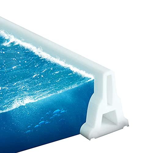 Baño Umbral De Ducha Plegable Ducha De Presa De Agua Tiras De Bloqueo De Agua De Silicona Flexible Separación Seca Y Húmeda para El Fregadero De La Cocina del Baño,280cm(110inch)