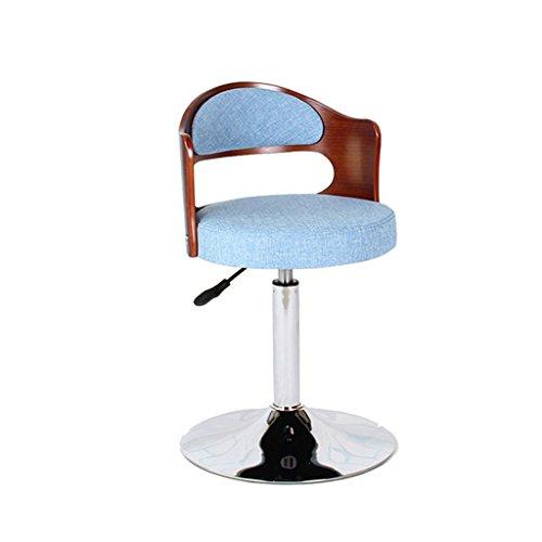 Ali@ Chaise de fauteuil pivotant de style chaise d'ordinateur de style européen Tabouret de bar chaise pivotante Chaise arrière en bois massif Chaises de réception Tabouret d'ordinateur