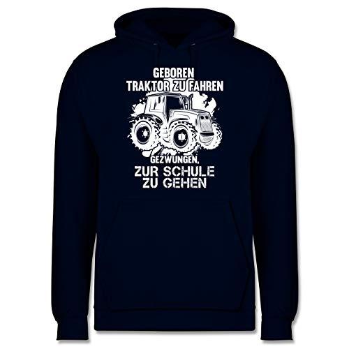 Shirtracer Andere Fahrzeuge - Geboren um Traktor zu Fahren - XXL - Navy Blau - sprüche Hoodie Herren geboren um Traktor zum Fahren - JH001 - Herren Hoodie und Kapuzenpullover für Männer