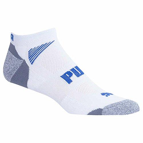 Puma Men's No Show Sock, 8-pair White Shoe Size 6-12