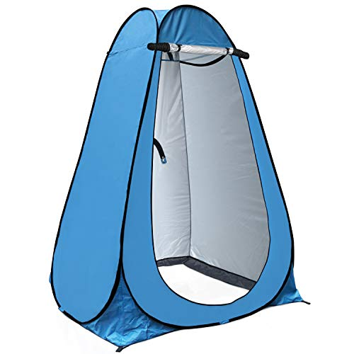 anngrowy Pop Up Privacy Tent Shower Tent Portable Outdoor Camping Bathroom Toilet Tent Changing Dressing Room Privacy Shelters Room for Hiking and Beach – UPF 40+ Waterproof with Carry Bag