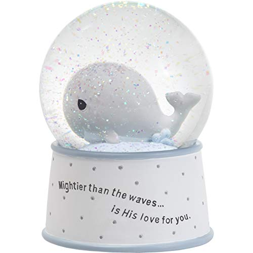 Precious Moments Mightier Than The Waves Brahms' Lullaby Whale Musical Resin/Glass Snow Globe, One Size, Multicolor