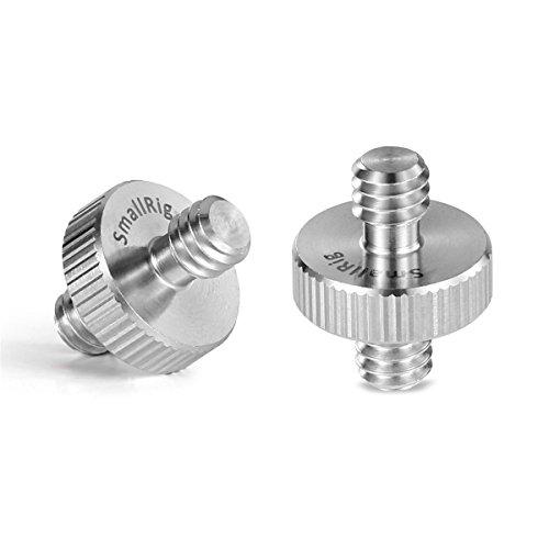 SMALLRIG 1/4 männlich zu 1/4 männlich Gewinde Schraube Adapter zum Kamera/Stativ/Monopod/Kugelkopf/Lichtstand (2 Stück) - 828
