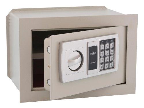 HOMEGARDEN Cassaforte Elettronica a Muro con Combinazione in Acciaio 32x22x20
