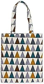 SATYAM KRAFT 1 Pcs Reusable Jute Cute Printed Cotton Canvas Tote Bag