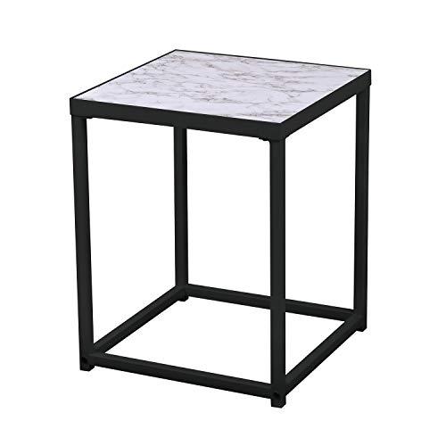 Urban living Beistelltisch Marmor Xenos - L 40 x H. 50 cm schwarz