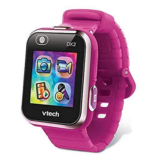 VTech Kidizoom Smart Watch DX2 - Reloj inteligente para niños, color frambuesa, versión francesa (193845)