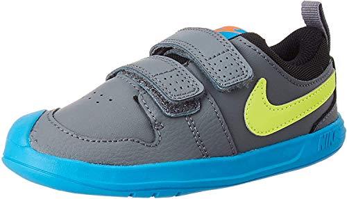 Nike Pico 5 TDV, Zapatillas Unisex niños, Gris (Smoke Grey/Lemon Venom-Laser Blue), 19.5 EU