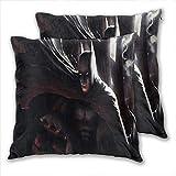 anzonto Lot de 2 taies d'oreiller de voyage Batman Art Deviant pour canapé ou chaise 40 x 40 cm