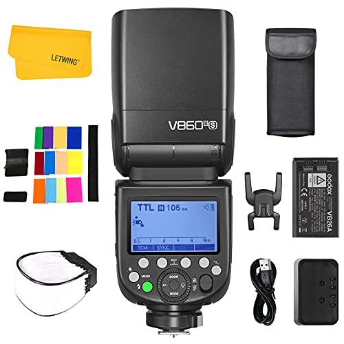Godox Ving V860III-S TTL Flash per Fotocamera, 76Ws 2.4G Wireless HSS 1 8000, Batteria agli Ioni di Litio ad alte Prestazioni da 7.2V 2600mAh, Compatibile per Fotocamera DSLR Sony