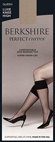 Berkshire Women's Plus-Size Queen Perfect Curves Luxe Knee High, Nude, Queen Size