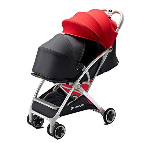 Cochecito de Dos vías del Carro de bebé, Adecuado para bebés Desde el Nacimiento hasta los 4 años de Edad, Todo el automóvil se Puede Lavar, el Cochecito multifunción de Asiento/Cuna, Puede Llevar 3