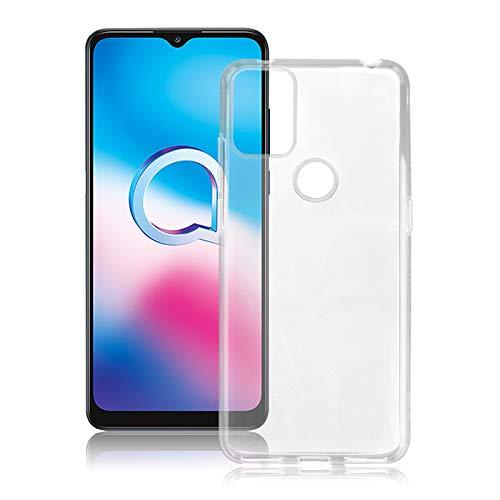 ROVLAK Hülle für Alcatel 3X 2020 Kratzfeste TPU Weiche Silikon Hülle+Stoßfestes Dünnes Klares Tasche für Alcatel 3X 2020 Smartphone Cover