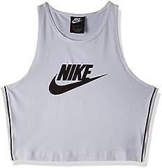 Nike Camiseta Tirantes Sportswear Heritage Blanco para Mujer