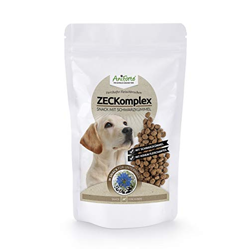 AniForte ZECKomplex Belohnugssnack für Hunde 150g - Naturprodukt mit Schwarzkümmel und extra hohem Fleischanteil, frische Schwarzkümmelsamen, getreidefrei