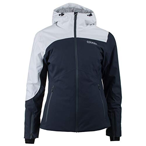 COLMAR W Aspen Ski Jacket Blauw-Wit, Dames Jas, Maat 48 - Kleur Blauw Zwart - Wit - Cloud