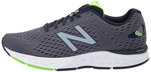 New Balance Men's 680 V6 Running Shoe, Pigment/RGB Green, 11 4E US 11