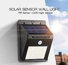 QERINKLE® Solar Power LED Light Outdoor Motion Activated Sensor for Home Garden, Balcony, Main Door, Solar Lights for Outdoor Home, for Garden Outdoor(20 LED)