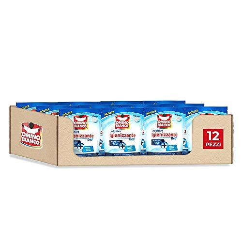 Omino Bianco Additivo Lavatrice Igienizzante Idrocaps, Tecnologia Deo+, 10 Caps x 12 Confezioni