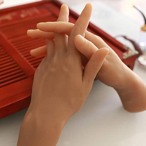 XIAOQIAO Männliches Silikon-Hand-Display-Modell, EIN Paar echtes männliches Handmodell, gefälschtes Modell des menschlichen Körpers, hohe Qualität und echte Berührung, weit verbreitet