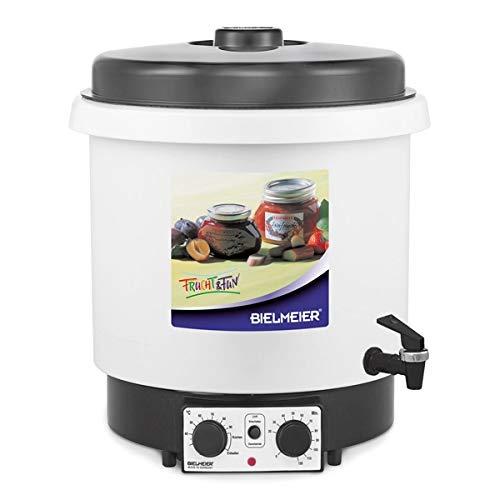 BIELMEIER Einkochautomat Glühweinkocher Einkochtopf 29 Liter Kunststoff Auslaufhahn 3/8
