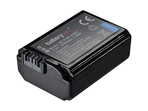 Batterytec® Replacement telecamera Batteria per SONY NP-FW50 Alpha 7 a7R II a3000 a6000 NEX-3N NEX-5N NEX-F3 SLT-A33, Cyber-shot DSC-RX10 telecamera Digitalee. [ricaricabile, 12 mesi di garanzia]
