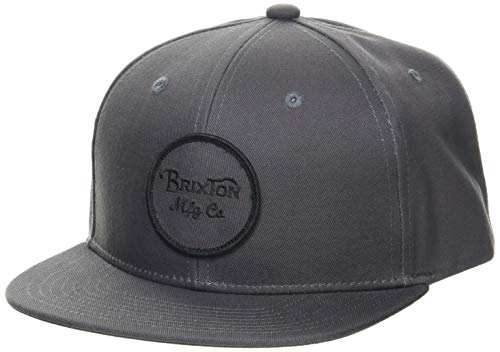 BRIXTON Men's Wheeler Snapback Baseball Cap, Charcoal, One Siz