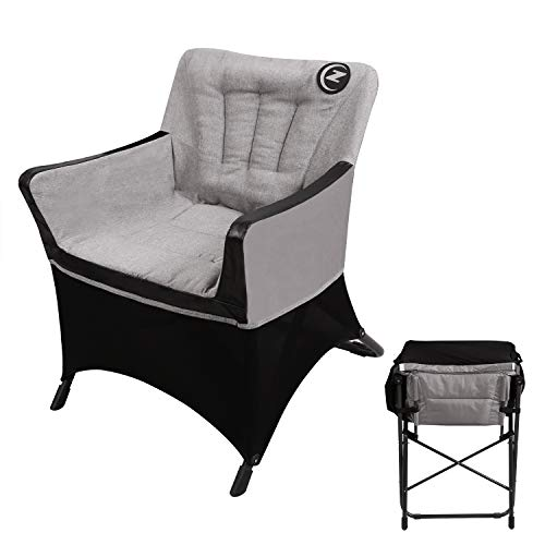 REDCAMP Folding Lazy Sofa Chair for Living Room, Comfortable Cotton Accent Lounge Arm Chair Indoor Outdoor with Padded Seat and Backrest, Grey