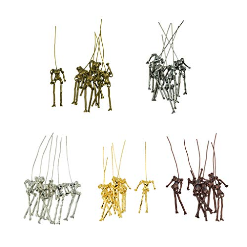 F Fityle 30 Sets Hecho a Mano Cuerpo Esqueleto Fit DIY Muñecas Colgante de Accesorios para Hacer Bisutería