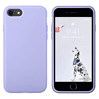 OTOFLY Case Compatible with iPhone SE 2020 Case, iPhone 7 Case, iPhone 8 Case, [Silky and Soft Touch Series] Premium Liquid Silicone Rubber Protective Case for iPhone 7/8/SE 2020 - Light Purple