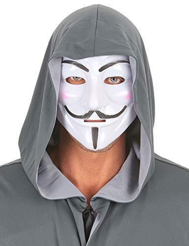 Party Pro Vegaoo - Anonymus Maske für Erwachsene - Einheitsgröße