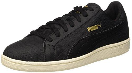 Puma Smash Woven, Sneaker Man (Gymnastics), Nero/Nero, 7.5