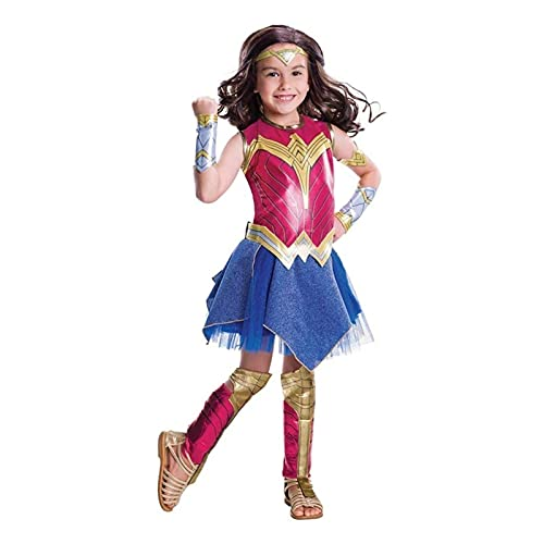 Yokbeer Wonder Woman - Disfraz De Niña-Disfraz Clásico Wonder Woman (Color : Red, Size : Large(130-145cm))