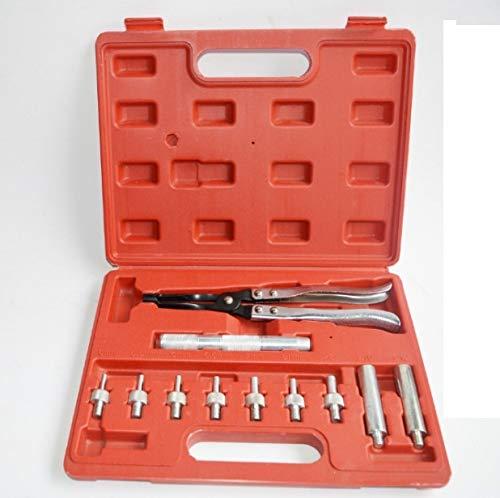 Schraubensets 11 Doersupp in 1 Berufs Universal Tasche 11pcs Auto Ventilschaftdichtung Zange Sitz Zangen Remover Installer Tool Kit Set