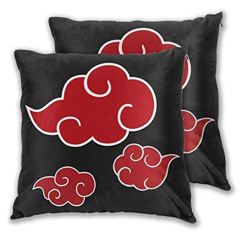 zwbaobei Throw Pillows Case Red Clouds Of Akatsuki Sofa Decorative Pillow Cushions Pillow Cover-66X66Cm_Cushion_Case_2_Pieces
