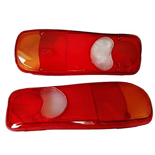2x Lichtscheibe Glas Ersatzglas Rückleuchten Rücklichtglas LKW PKW Anhänger Heckleuchte