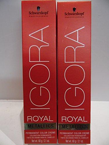 Schwarzkopf Igora Royal Metalics Hair Color (2 Tubes) 6-28 Dark Blonde Ash Red by SCHWARZKOPF
