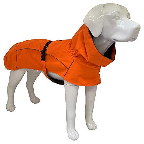 Croci Hiking Hundemantel, wasserdicht, für Hunde, Makalu, feuchtigkeitsregulierendes Futter, Farbe Orange, Größe 55 cm – 381 g