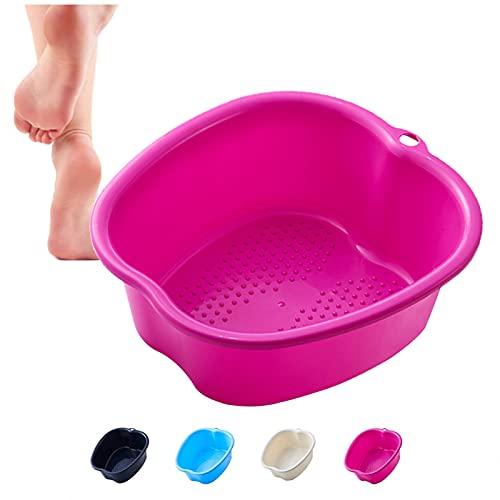 DIIQII Baño de Hidromasaje para Pies, Cuenco de SPA para baño de pies Grandes Masajeador de Pies con Agua, Para Pedicura Desintoxicación y Masaje, Perfecto para Remojar Los Pies (Purple1)