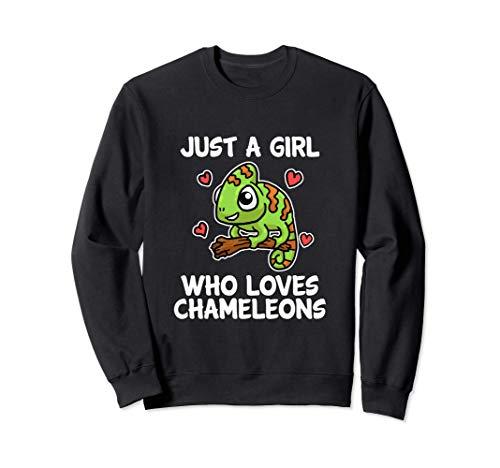 Just A Girl Who Loves Chameleons Lagarto Disfraz De Camaleón Sudadera
