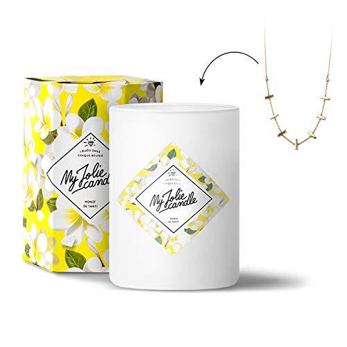 My Jolie Candle • Vela perfumada con Joya en el Interior • Collar Dorado - Perfume de Monoi de Tahití