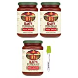 Rao's Homemade All Natural Pizza Sauce -13 oz (3 Pack) Bundled with Prime Time Direct Silicone Basting Brush...